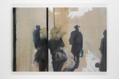 Oxford st Observer (2) 60x90 cm oil on canvas © Austen O'Hanlon